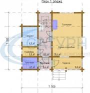 Проект Ривьера - План 1 этажа